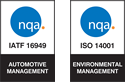 nqa. TS 16949 and ISO 14001 Registered